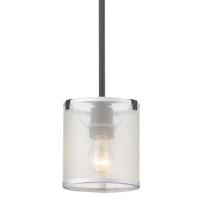 Alyssa Matte Black One-Light Mini Pendant