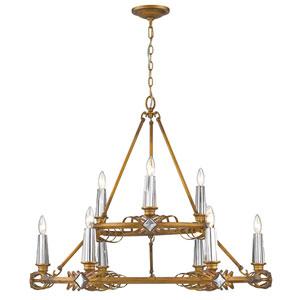 Signet Royal Gold Nine-Light Chandelier