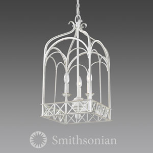Gateway French White Three-Light Lantern Pendant