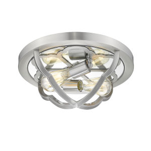 Saxon Pewter Two-Light Flush Mount