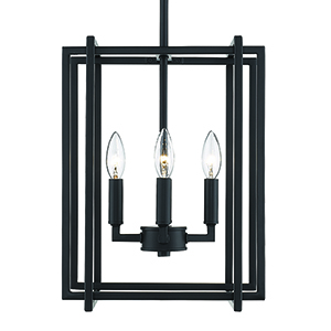 Tribeca Black 12-Inch Four-Light Mini Chandelier