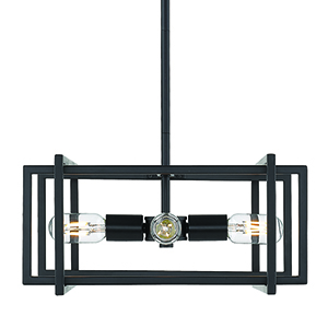 Tribeca Black 15-Inch Four-Light Pendant
