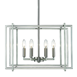 Tribeca Pewter 21-Inch Six-Light Chandelier