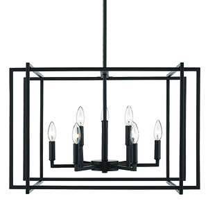 Tribeca Black 26-Inch Nine-Light Chandelier