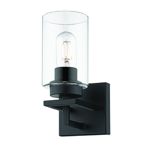 Tribeca Black Nine-Inch One-Light Bath Wall Sconce