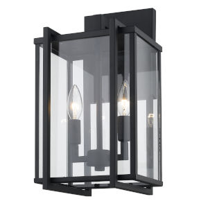 Tribeca Natural Black Two-Light Outdoor Wall Sconce