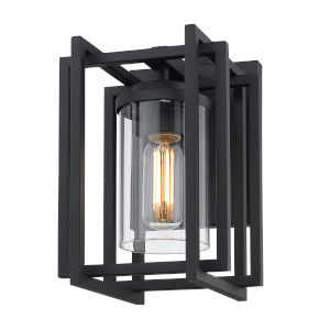 Tribeca Natural Black One-Light Outdoor Wall Sconce