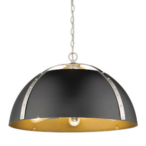 Aldrich Pewter Matte Black 25-Inch Five-Light Pendant