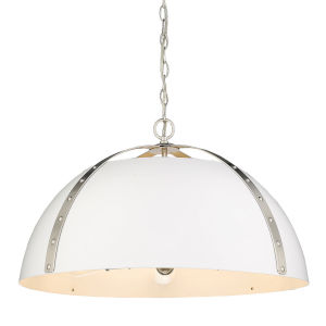 Aldrich Pewter Matte White 25-Inch Five-Light Pendant