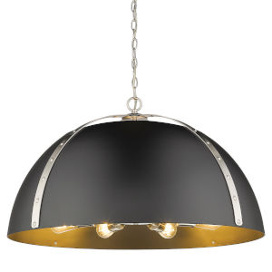 Aldrich Pewter Matte Black 30-Inch Eight-Light Pendant