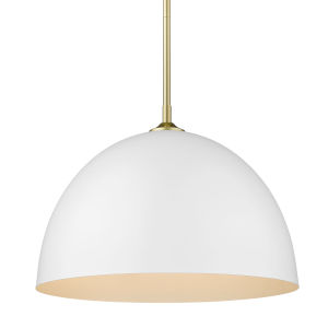 Zoey Olympic Gold 16-Inch One-Light Pendant with Matte White Shade