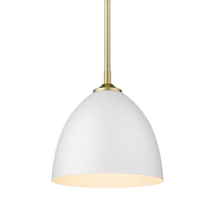 Zoey Olympic Gold Nine-Inch One-Light Mini Pendant