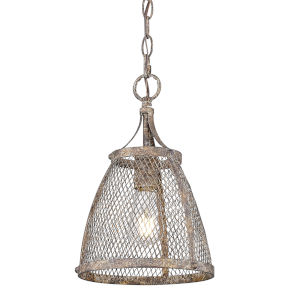 Calgary Pebbled Rust Nine-Inch One-Light Mini Pendant