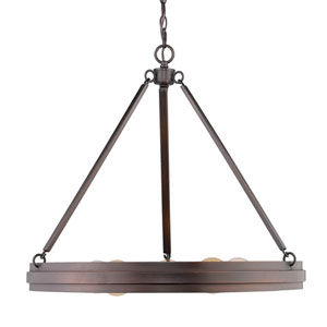 Drew Bronze Five Light Chandelier