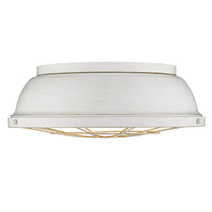 Bartlet French White Three-Light Flush Mount