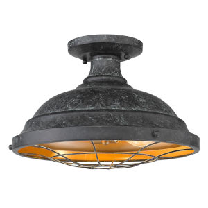 Bartlett Black Patina Two-Light Semi-Flush