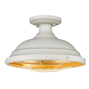 Bartlett French White Two-Light Semi-Flush