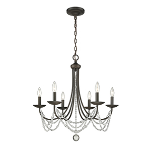 Mirabella Oil Rubbed Bronze Six-Light Chandelier