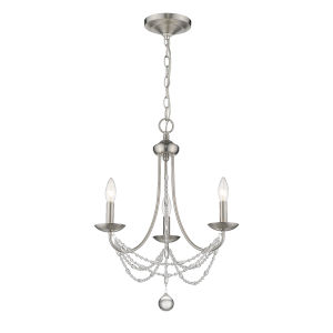 Mirabella Pewter Three-Light Chandelier