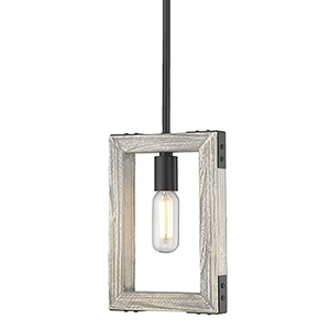 Lowell Black One-Light Mini Pendant