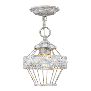 Ferris Oyster One-Light Semi-Flush Mount