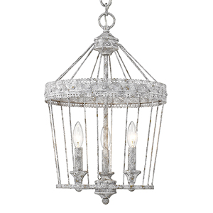 Ferris Oyster Three-Light Mini Chandelier