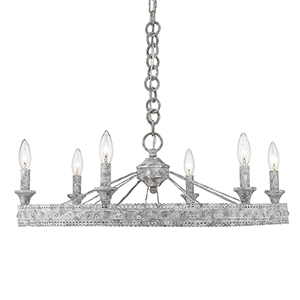 Ferris Oyster Six-Light Chandelier