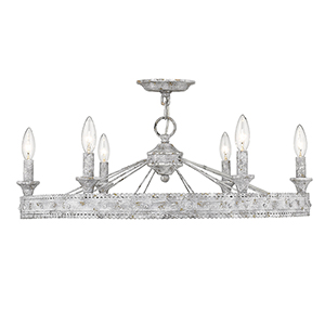 Ferris Oyster Six-Light Semi-Flush Mount