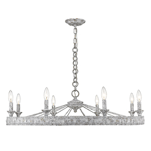 Ferris Oyster Eight-Light Chandelier