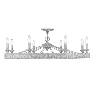 Ferris Oyster Eight-Light Semi-Flush Mount