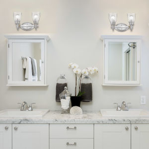 Parrish Pewter Two-Light Bath Vanity
