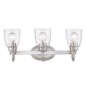 Parrish Pewter Three-Light Bath Vanity