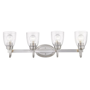 Parrish Pewter Four-Light Bath Vanity