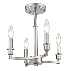 Ellyn Pewter Four-Light Semi-Flush Mount