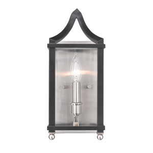 Leighton Pewter and Black Wall Sconce