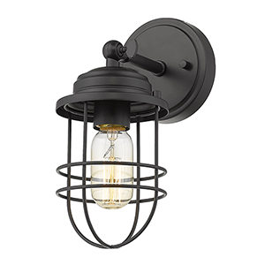 Seaport Black One-Light Wall Sconce