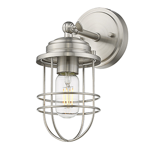 Seaport Pewter One-Light Wall Sconce
