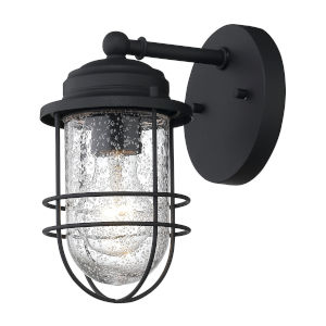 Seaport Natural Black One-Light Outdoor Wall Sconce