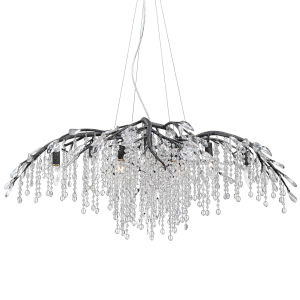 Autumn Twilight Black Iron 40-Inch 12-Light Chandelier