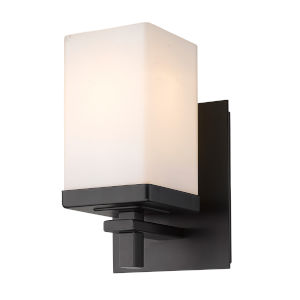 Maddox Matte Black One-Light Bath Vanity
