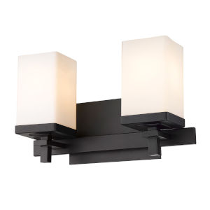 Maddox Matte Black Two-Light Bath Vanity