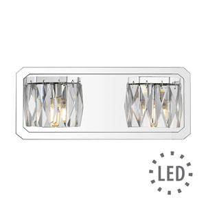 Krysta Chrome Two-Light LED Bath Vanity