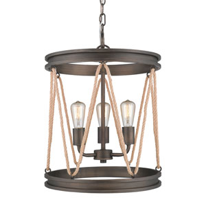 Chatham Gunmetal Bronze Three-Light Pendant