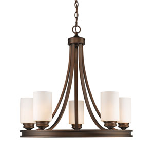 Hidalgo Sovereign Bronze Five-Light Chandelier