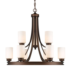 Hidalgo Sovereign Bronze Nine-Light Chandelier