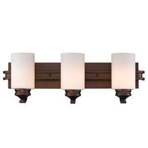Hidalgo Sovereign Bronze Three-Light Vanity