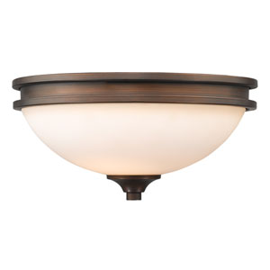 Hidalgo Sovereign Bronze Two-Light Flush Mount