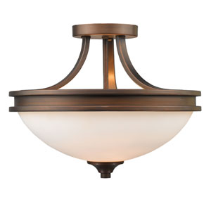 Hidalgo Sovereign Bronze Two-Light Semi Flush Mount