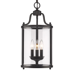 Payton Black Three-Light Pendant