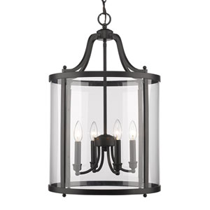Payton Black Four-Light Pendant